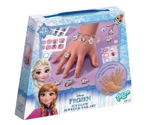 Šperky a obtisky na nehty Ledové království