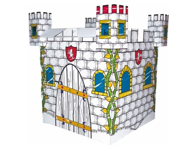 Kartonový domek - hrad na vymalování