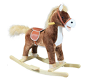 Houpací kůň plyšový se zvuky a pohyby, střední, hnědý