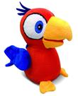 Charlie papoušek plyšový 15cm na baterie opakující slova v kleci