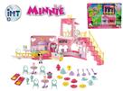 Minnie restaurace 40x15x28cm na baterie se světlem a zvukem+2 figurky s doplňky