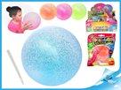 Balónek nafukovací měkký 25cm s glitry, mix 4 barev