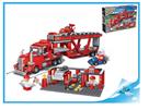 BanBao stavebnice Turbo Power servisní nákladní tahač 660ks + 4 figurky ToBees