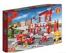 BanBao stavebnice Fire hasičská stanice s rozdělovačem dílků 828ks + 5 figurek ToBees