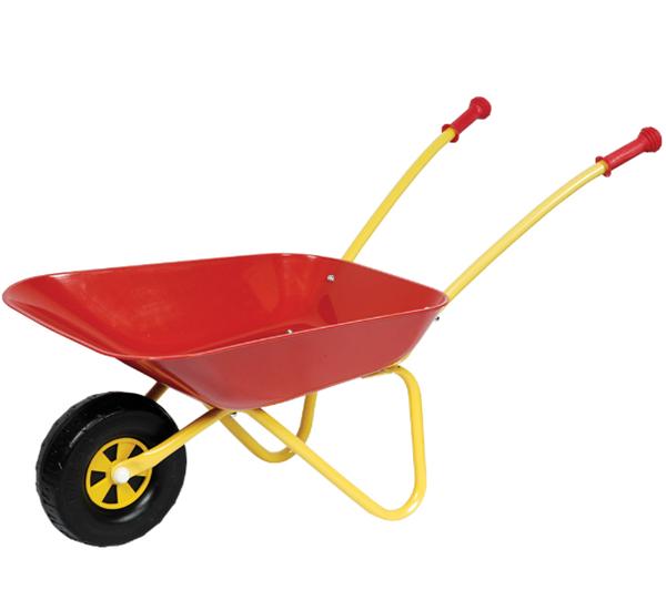 Kolečko na písek kovové 40×38×78 cm červené