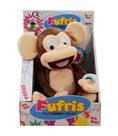 Fufris opička plyšová 34cm hnědá smějící se a hýbající na baterie