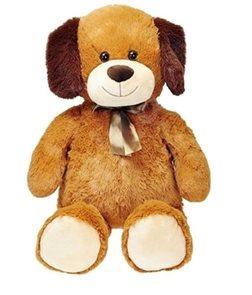 Pes plyšový s mašlí, 80 cm