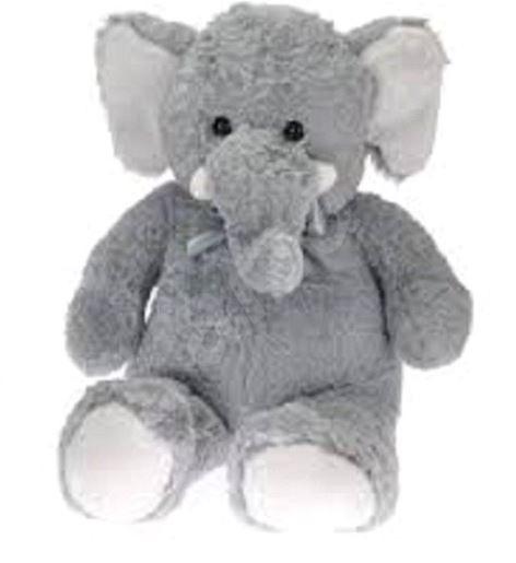 Slon plyšový s mašlí, 80 cm, Sleva 67%