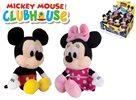 Mickey Mouse a Minnie plyšoví 20 cm na barerie se zvukem, mix motivů
