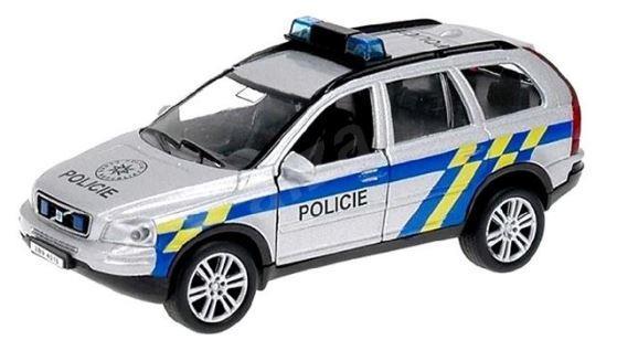 Policejni Auto Volvo Xc 90 Kov 14cm Zpetny Chod Na Baterie Se