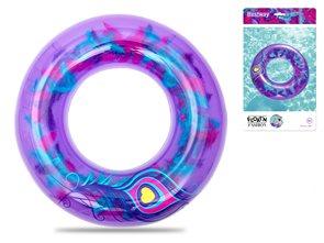 Kruh nafukovací 91 cm s barevným peřím