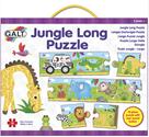 Dlouhé podlahové puzzle - Džungle,  zvukové 10ks, 140×14cm