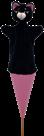 Maňásek Kočička černá 54 cm 3v1,kornout