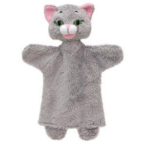 Maňásek Kočka šedá 26 cm