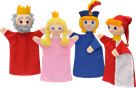 Maňásci - Královská rodina s šaškem