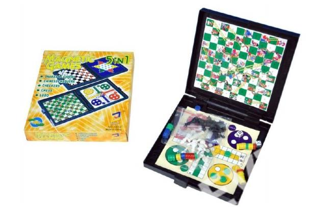 d5f7e4d9891 Magnetická hra 5v1 - šachy