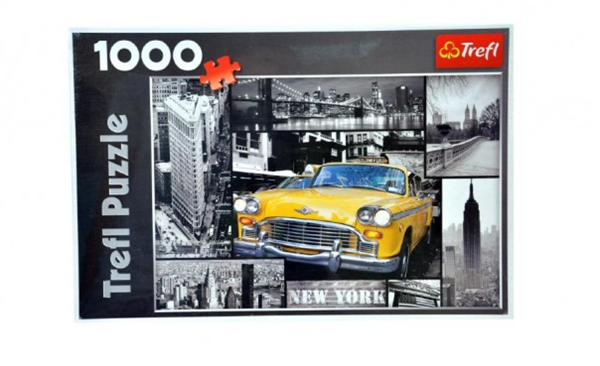 Puzzle New York koláž 68x 48cm 1000 dílků v krabici 40x 27x 6cm