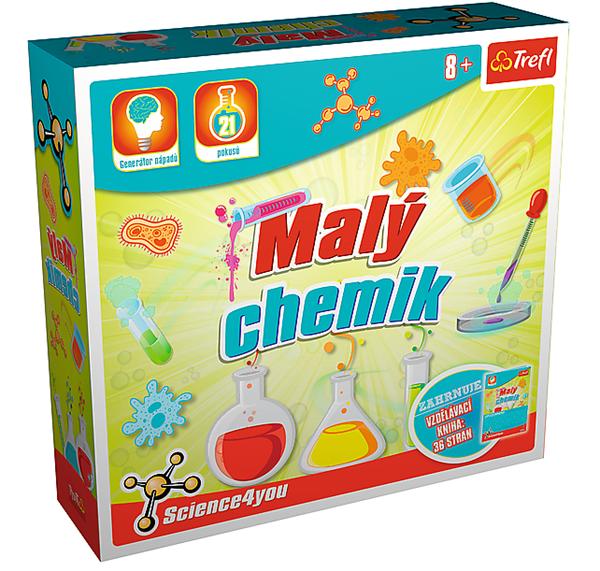 Malý chemik vědecká hra 21 pokusů Science 4 you