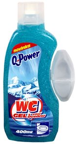 Q power wc gel - ocean (modrý) - 400 ml