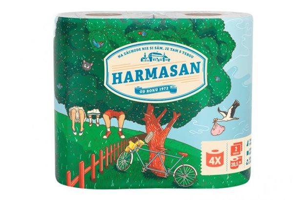 Harmasan Toaletní papír- 2 vrstvy (4x21m)