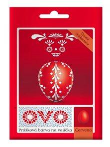 OVO prášková barva na vajíčka 5g - červená