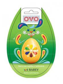 OVO barvy na vajíčka tablety (6 barev)