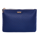 Kosmetická taška plochá - Blue Triangles