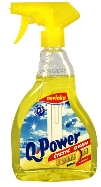 Q-Power čistič oken 500ml - citron