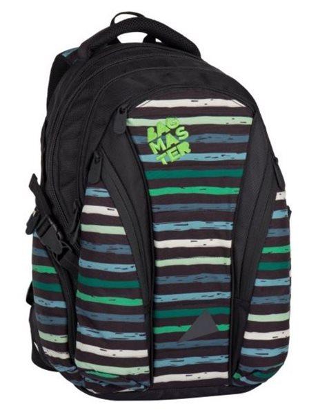 Školní batoh Bagmaster - BAG 7 CH BLACK/GREEN, Doprava zdarma