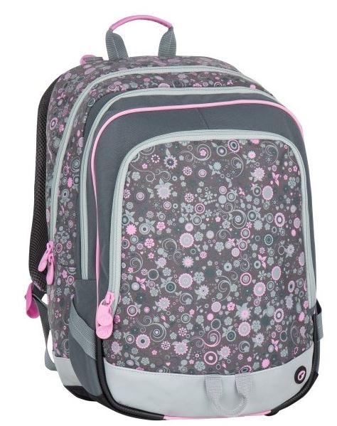Školní batoh Bagmaster - ALFA 7 B GREY/PINK, Doprava zdarma