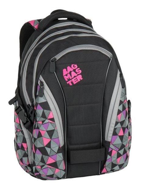 Studentský batoh Bagmaster - BAG 7 C BLACK/PINK/GREY, Doprava zdarma