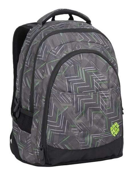 Studentský batoh Bagmaster - DIGITAL 7 C BLACK/GREEN/GREY, Doprava zdarma