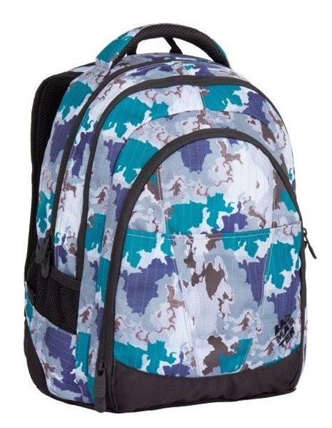 Studentský batoh Bagmaster - DIGITAL 7 H GREY/BLUE, Doprava zdarma