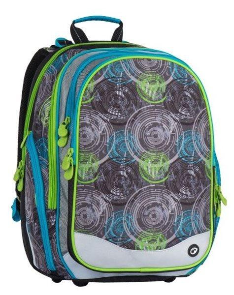 Školní batoh Bagmaster - ELEMENT 7 B GREY/BLUE/GREEN, Doprava zdarma