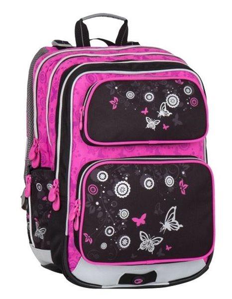 Školní batoh Bagmaster - GALAXY 7 A BLACK/PINK, Doprava zdarma