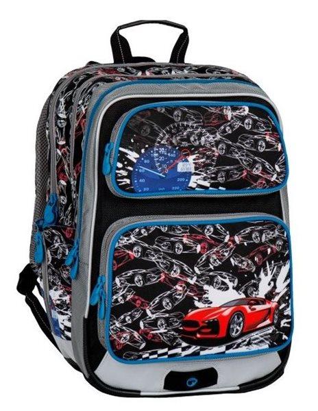 Školní batoh Bagmaster - GALAXY 7 D BLACK/BLUE, Doprava zdarma