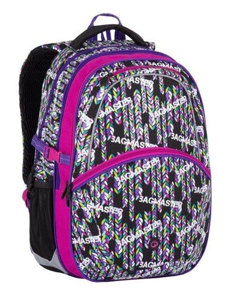 Školní batoh Bagmaster - MADISON 7 B BLACK/PINK/VIOLET, Doprava zdarma