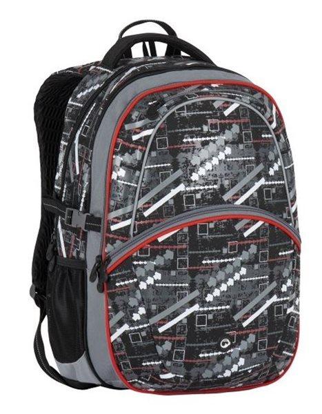 Školní batoh Bagmaster - MADISON 7 D GREY/WHITE, Doprava zdarma