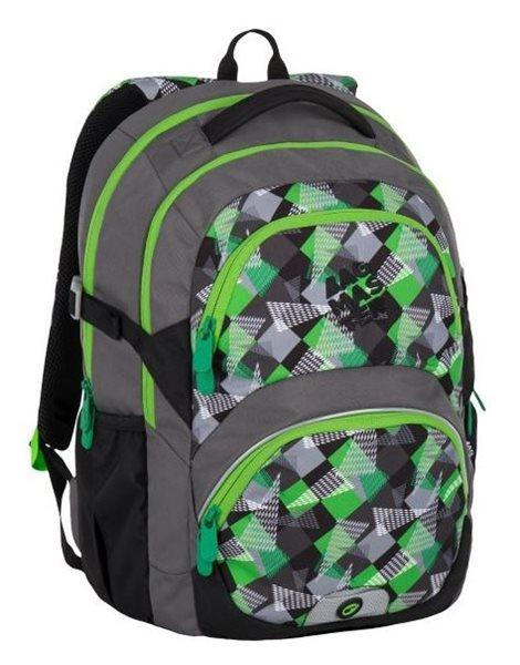 Školní batoh Bagmaster - THEORY 7 B GREEN/GREY, Doprava zdarma
