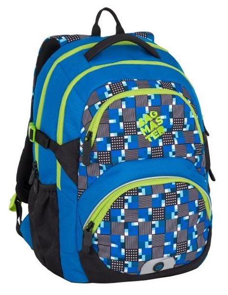 Školní batoh Bagmaster - THEORY 7 D BLUE/GREEN, Doprava zdarma