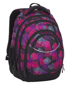 Studentský batoh Bagmaster - ENERGY 8 E BLACK/PINK/VIOLET