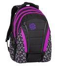 Studentský batoh Bagmaster - BAG 8 A BLACK/PINK/VIOLET