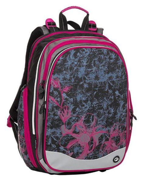 Školní batoh Bagmaster - ELEMENT 8 A BLACK/GRAY/PINK