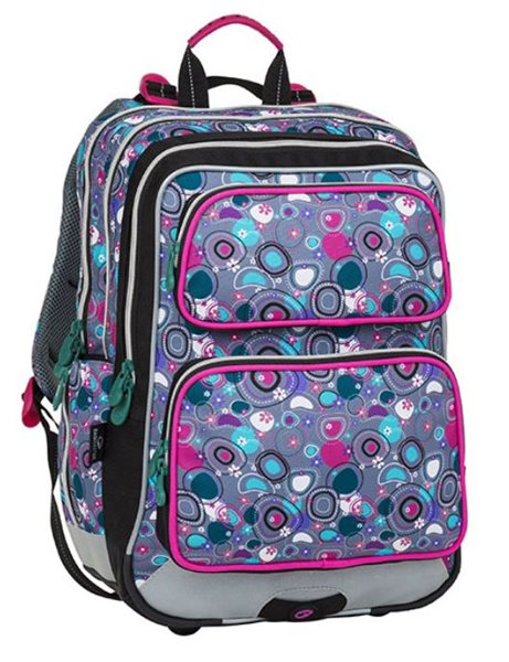 Školní batoh Bagmaster - GALAXY 8 A PINK/GRAY/GREEN