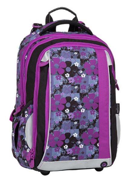 Školní batoh Bagmaster - MERCURY 8 A BLACK/PINK/VIOLET