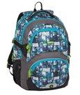 Školní batoh Bagmaster - THEORY 8 C BLACK/BLUE/GRAY