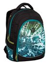 Studentský batoh Bagmaster - DIGITAL 9 B BLUE/GREEN/BLACK