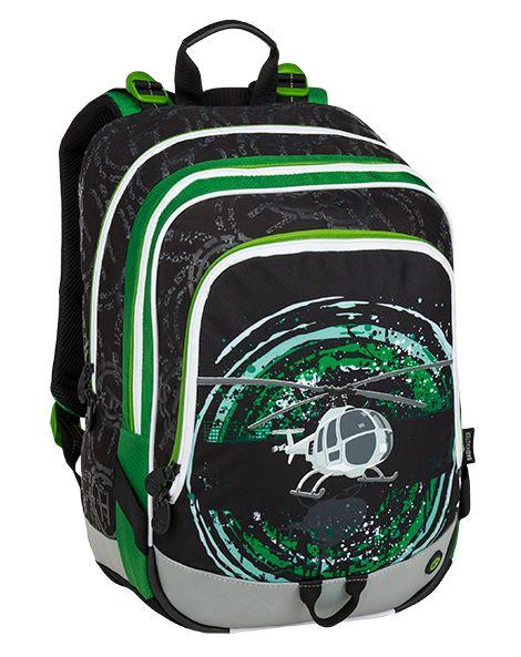 Školní batoh Bagmaster - ALFA 9 D BLACK/GREEN/GRAY
