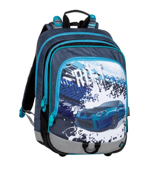 Školní batoh Bagmaster - ALFA 20 D BLUE/GREY/BLACK