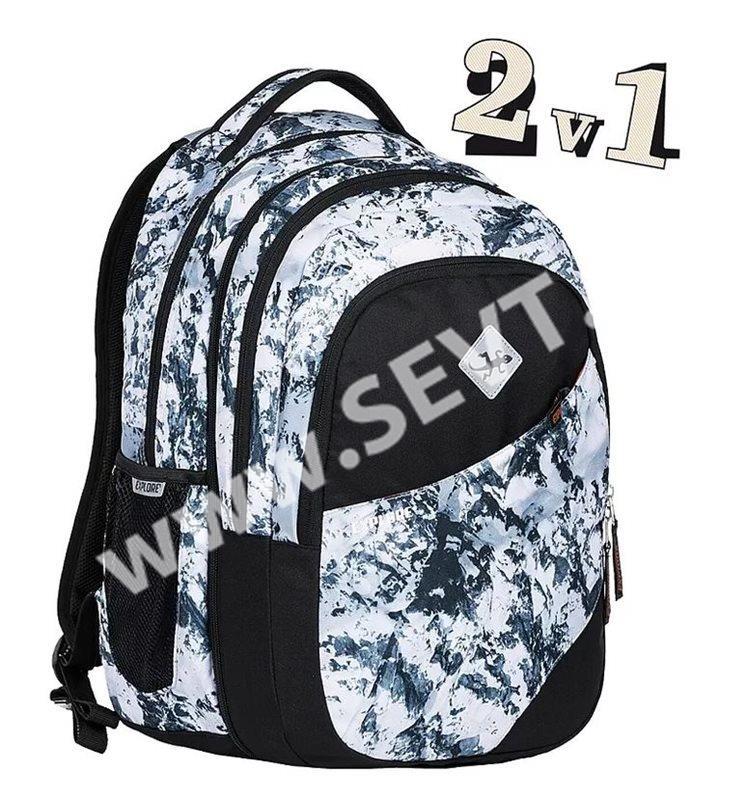 cca7ffc885 Studentský batoh Explore 2v1 DANIEL Snow - SEVT.cz
